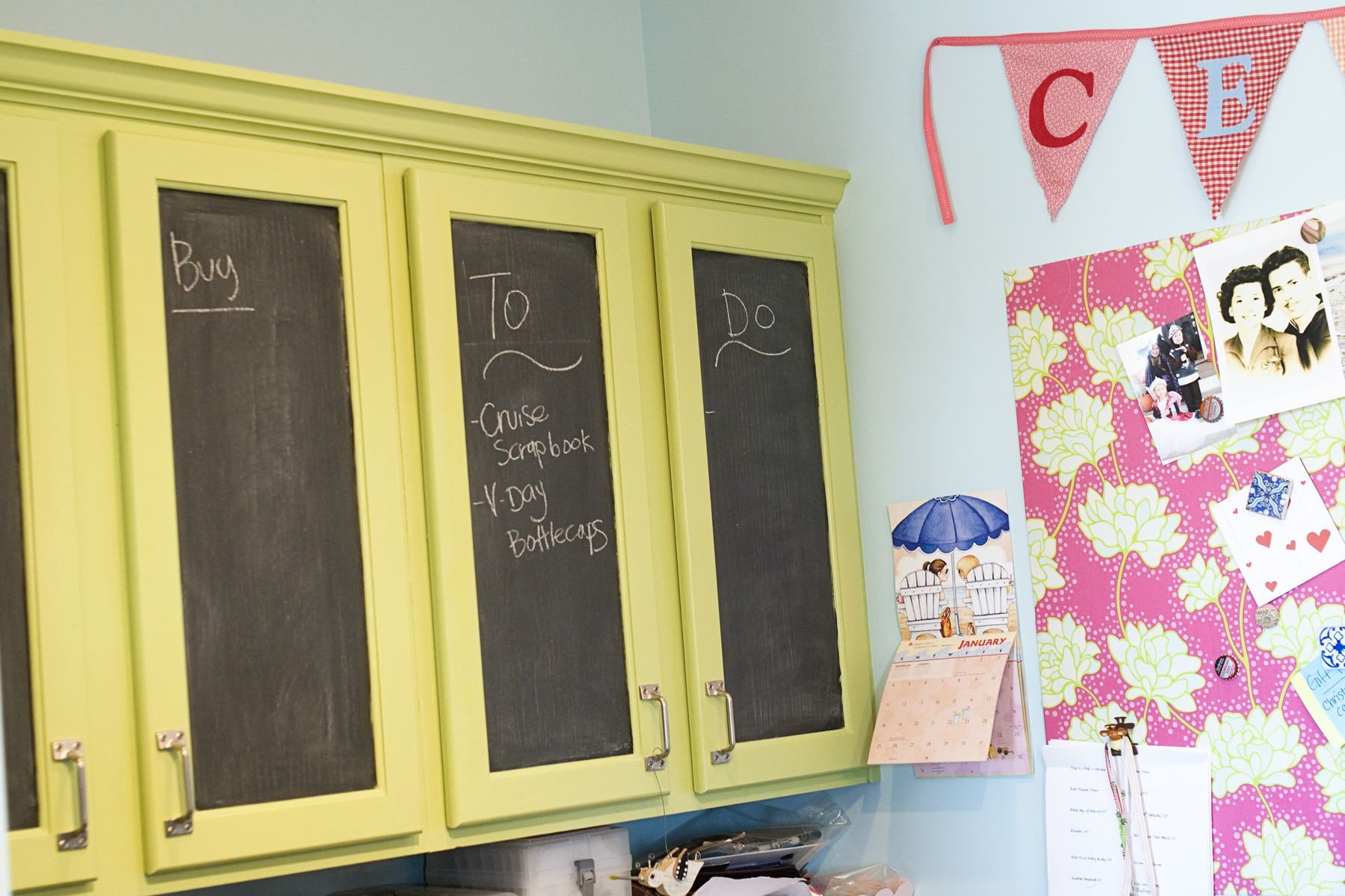 Home of the Polkadot Chair part 2, Craft Room Ideas | Chalkboard ...