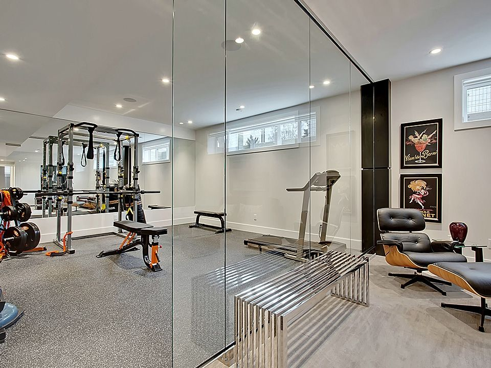home gym decorating ideas with glass wall | love the gym and glass wall | Dream home gym, Home gym ...