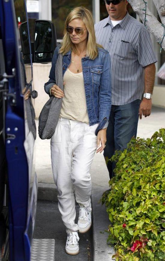 242c45f279 Heidi Klum with Isabel Marant Betty Wedge Sneakers | NATURAL | Wedge ...
