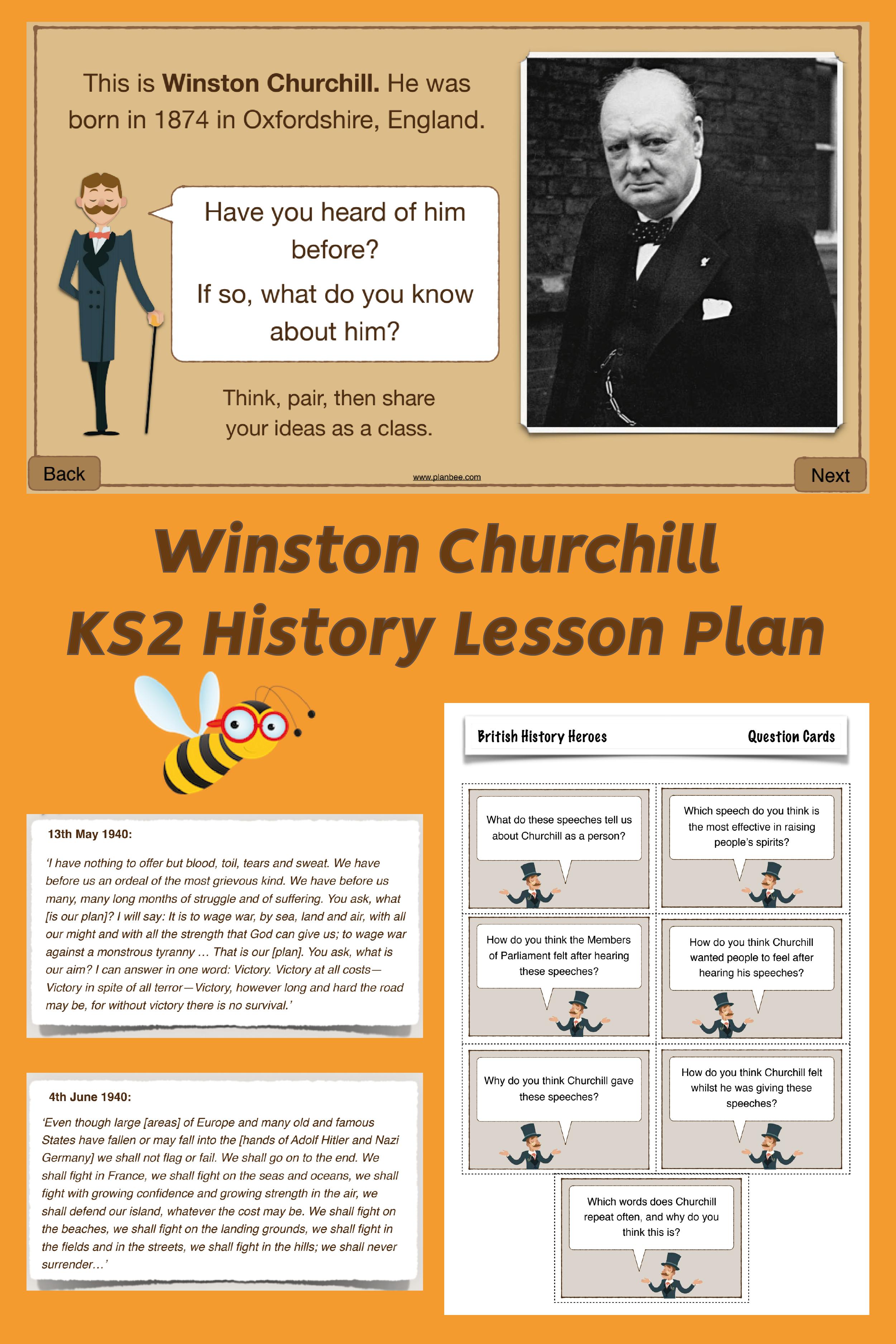 British History Heroes Winston Churchill