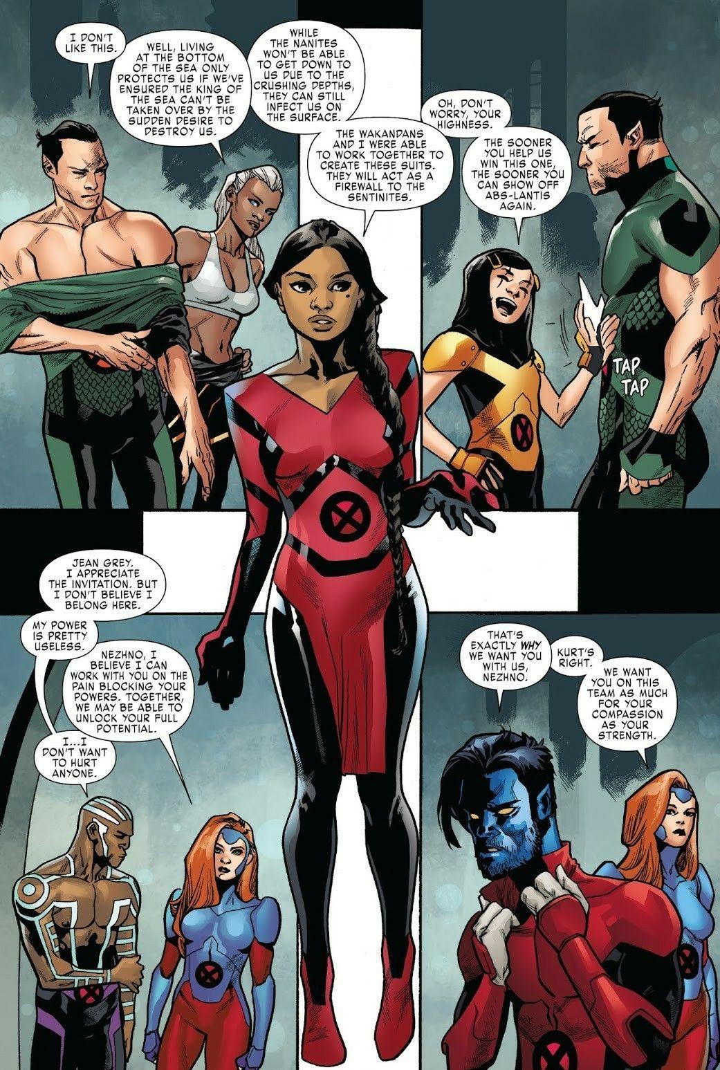 Wakandan S Help Trinary Develop Tech Suits To Resist Sentinite Technology X Men Red 3 Or 4 Xmen Comics Black Comics Marvel Women