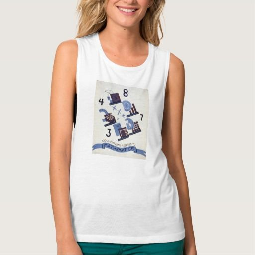Vintage Occupations Related to Mathematics Poster Flowy Muscle Tank Top Tank Tops
