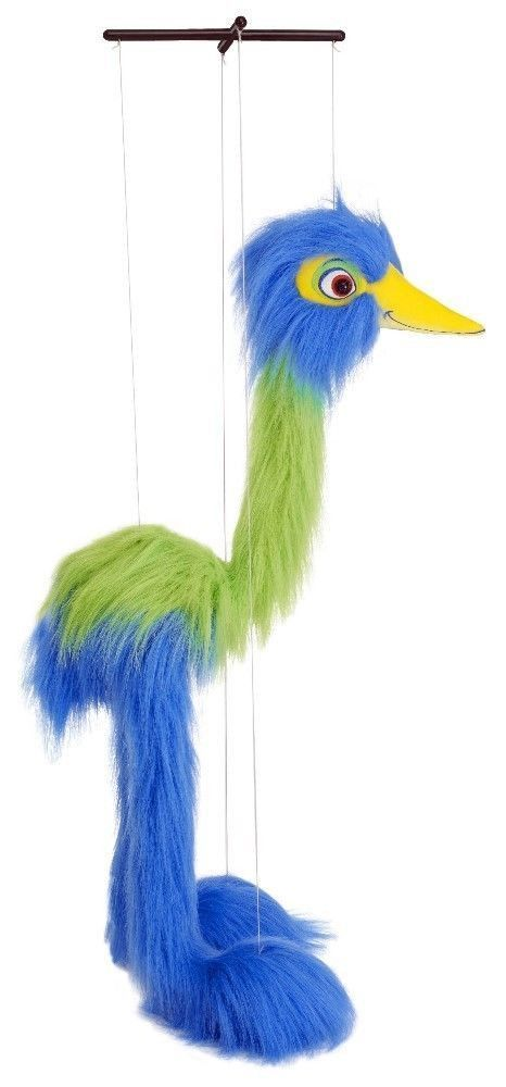 Giant Blue Bird Classic Marionette by The Puppet Company This Giant Marionette Puppet just begs to be played with! It encourages creativity, performance and most of all, FUN! Children of all ages will