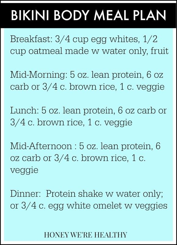 Contest meal plan example meal plans Pinterest Meals