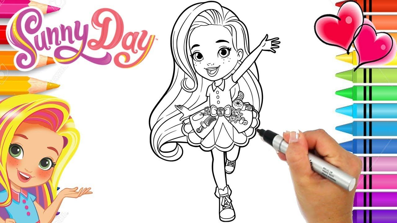 Coloring Sunny Day Hairstylist Coloring Book Page Sunny Day