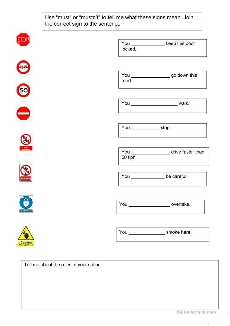 Safety Sign Worksheets For Kindergarten