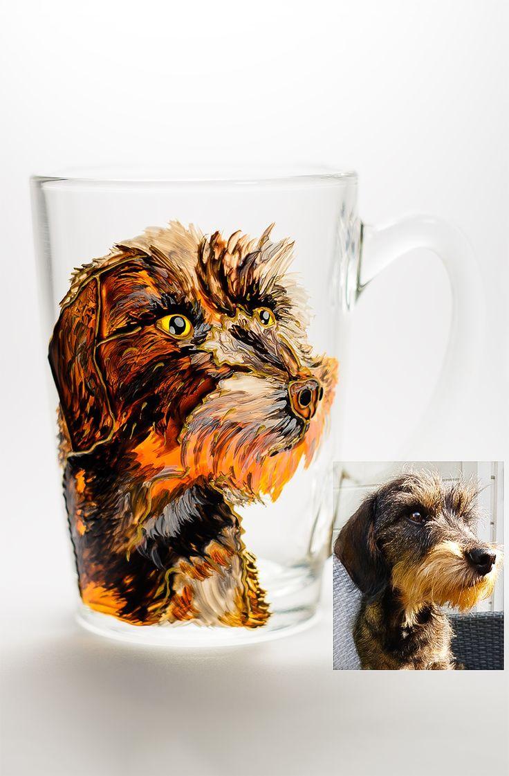 Custom Dog Portrait Mug Pet Gift Personalized Pet