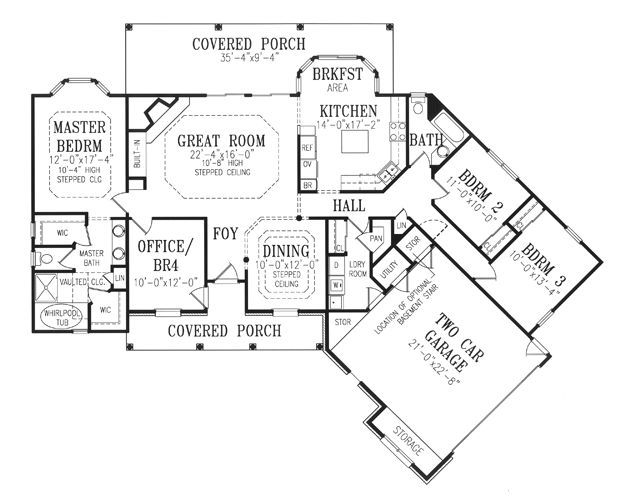 Image result for house plans with offset garage – House Plans With Offset Garage