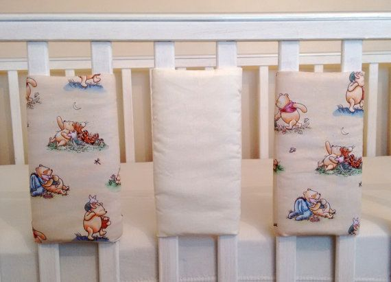 Vintage Winnie The Pooh Baby Cot Bar Bumpers By Tinytoadcreations
