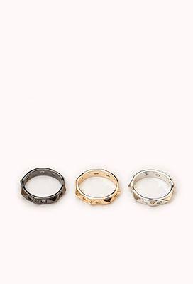 Studded Ring Set | FOREVER21 - 1058103601