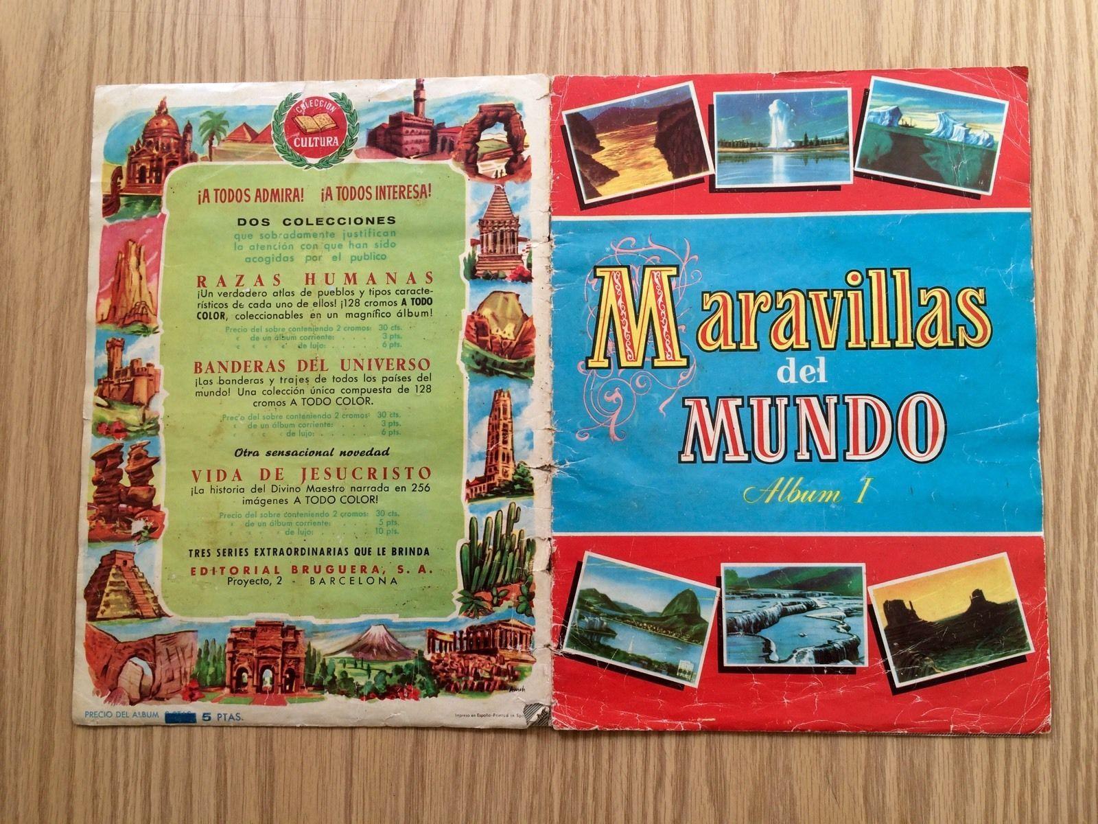 Album I Maravillas Del Mundo Edic Bruguera 125 Cromos Año 1956 | eBay