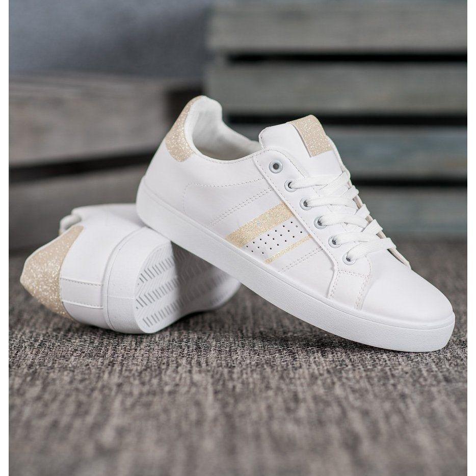 Shelovet Wygodne Biale Buty Sportowe Adidas Superstar Sneaker Adidas Gazelle Sneaker Adidas Sneakers