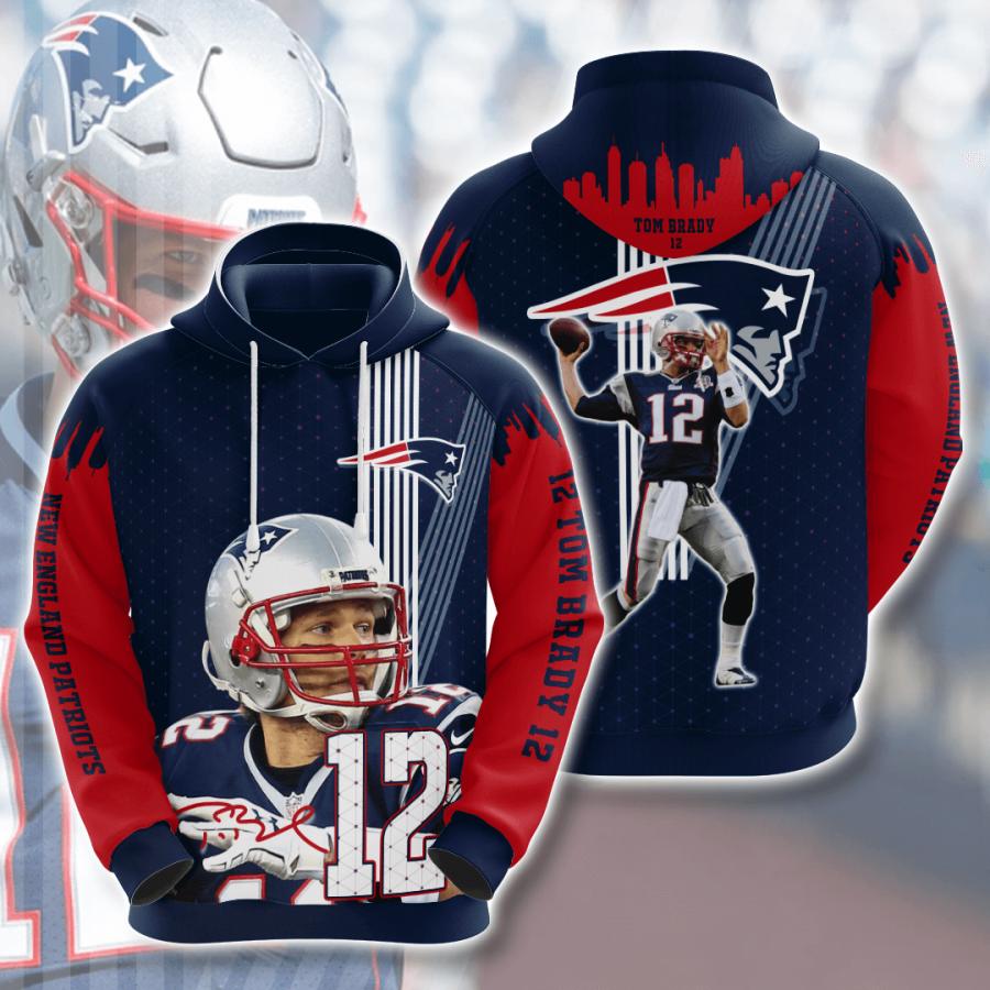 Trending Sports American Football Nfl New England Patriots Tom Brady Usa 1137 Hoodie 3d In 2020 New England Patriots Nfl New England Patriots England Patriots