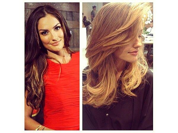 Brunette to blonde! Cute!!!