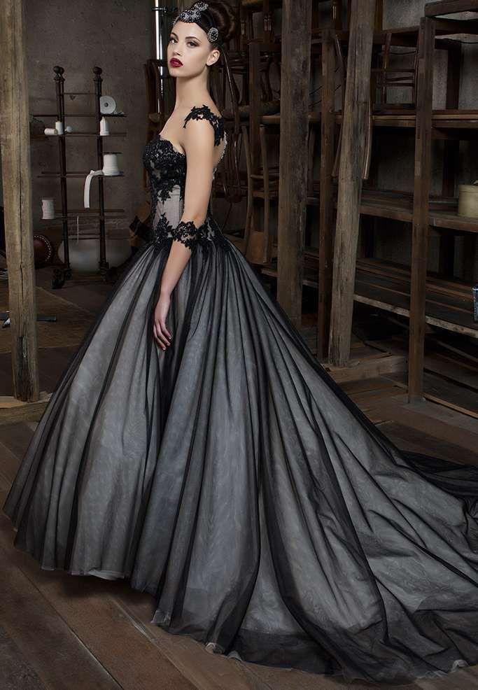 4390077ddde6 Abiti da sposa Gritti dalla collezione 2017 - Abito da sposa grigio e nero