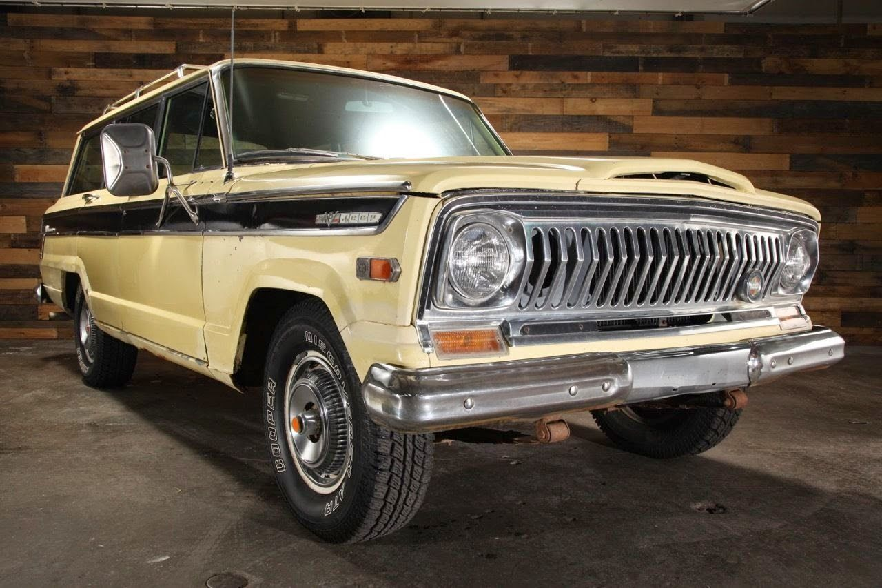 all american classic cars 1970 jeep wagoneer sj 4wd 4 door suv jeep wagoneer pinterest. Black Bedroom Furniture Sets. Home Design Ideas