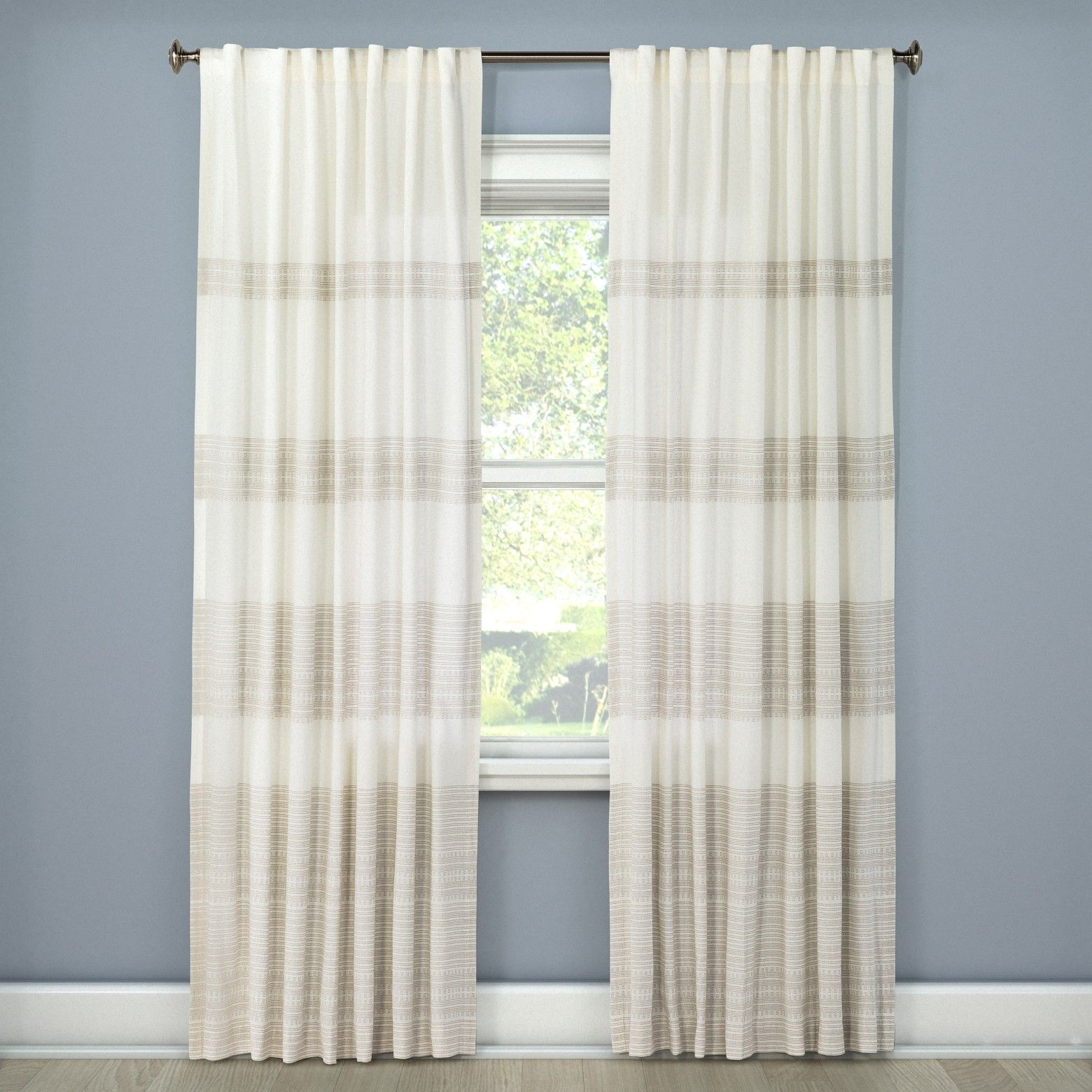 Threshold global stitch curtain panel room basement furniture and