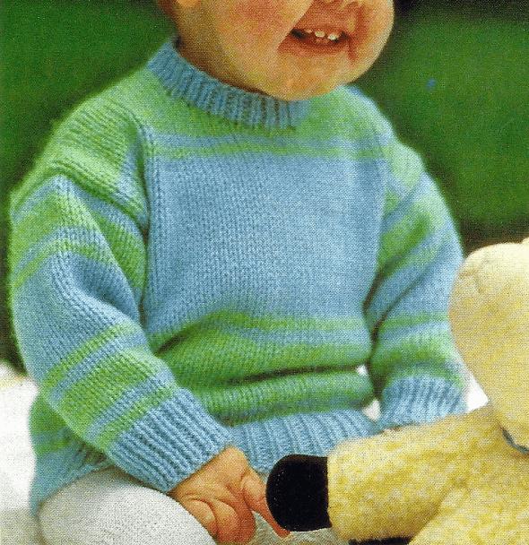 Photo of Gestreifter Babypullover, kostenlose Anleitung zum Betroffenen