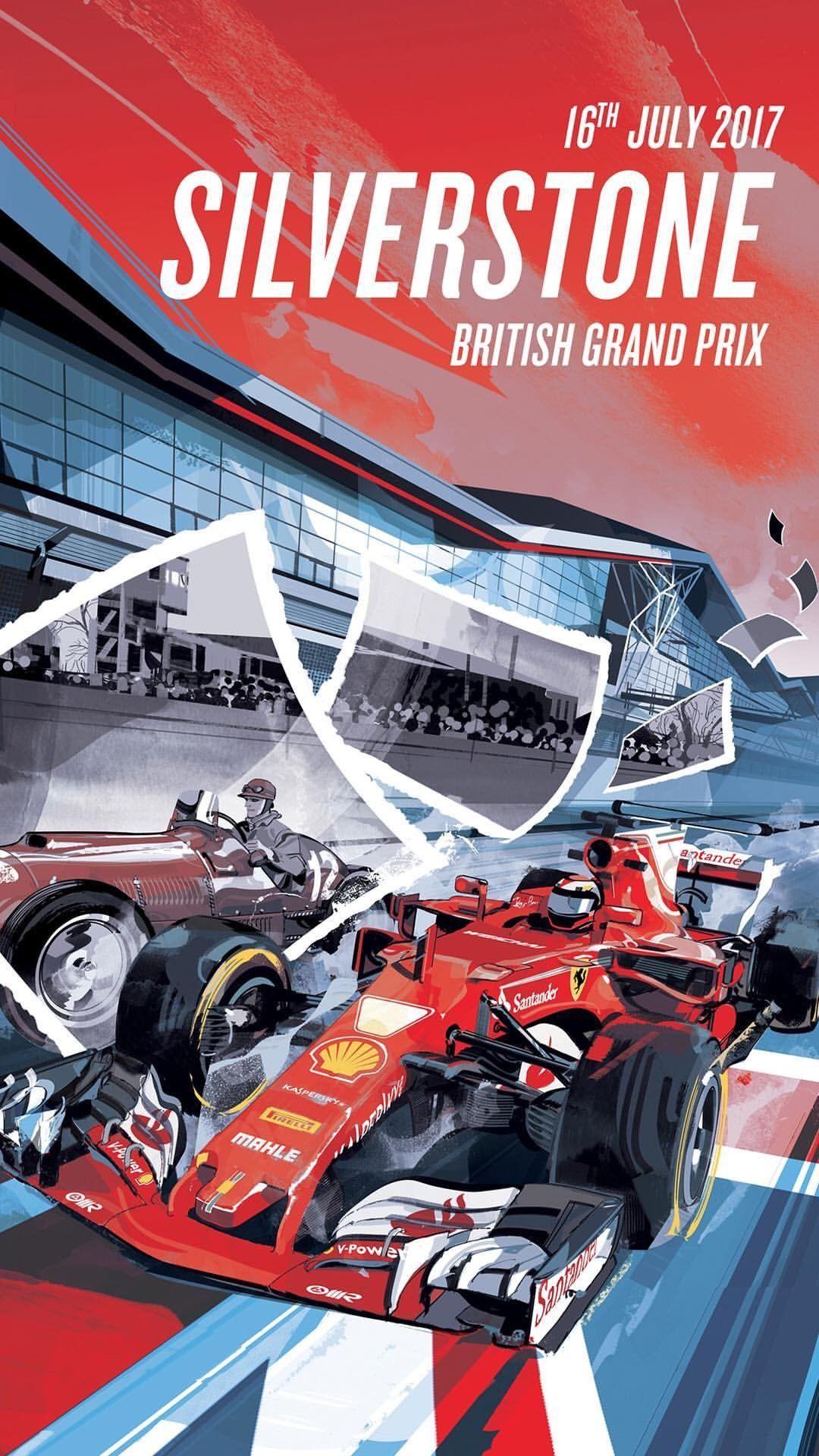 2017 English GP, Silverstone | Poster by Scuderia Ferrari ...