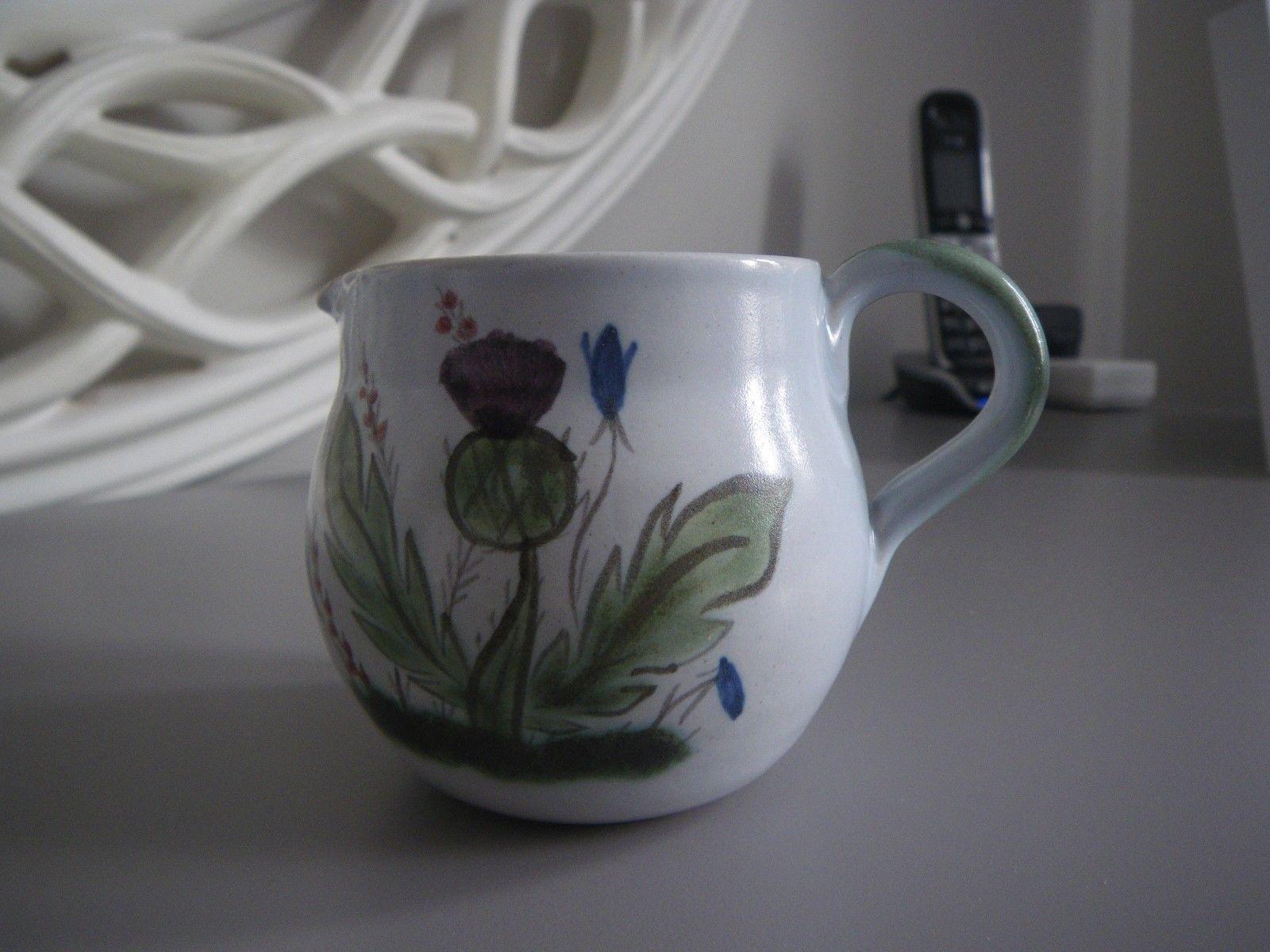 Buchan Pottery Portobello Stoneware Mug Thistle pattern