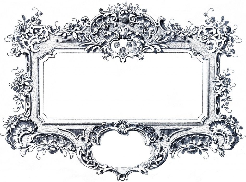 24 Frame Clipart Fancy And Ornate Updated Baroque Frames Clip Art Vintage Graphics Fairy