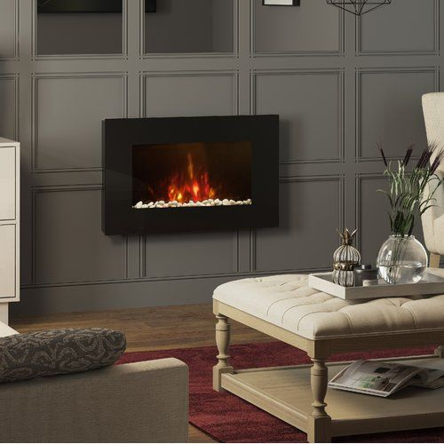 Bemodern Azonto Wall Mounted Electric Fire Wall Mounted Electric