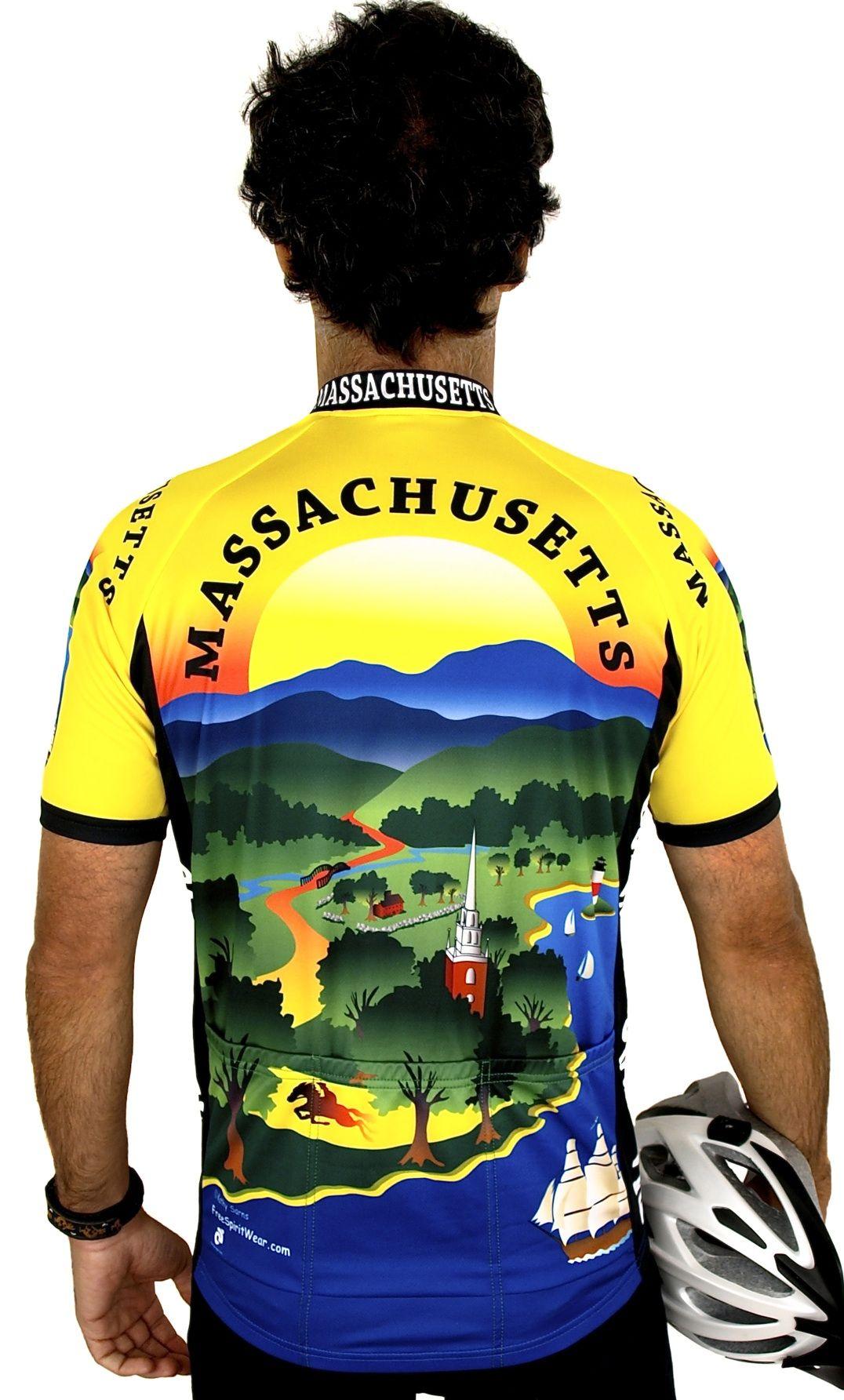 Massachusetts Cycling Jersey Bike jersey design, Cycling