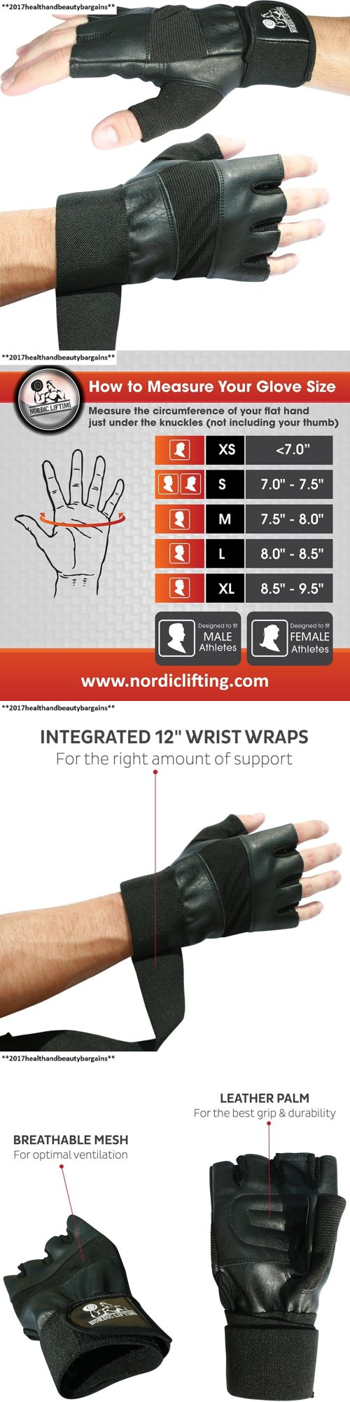 Gloves Straps and Hooks 179820: Weight Lifting Gloves With 12 Wrist Support For Gym Workout,... -> BUY IT NOW ONLY: $30.73 on eBay!