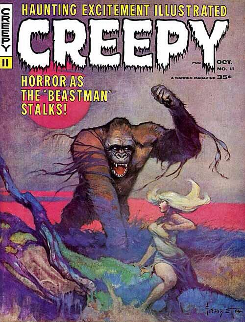 Creepy magazine # cover