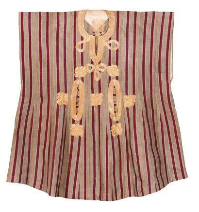 Tunique (Gbariye) Yoruba, Hausa ?, Nigeria Ancienne tunique ou robe d'apparat d'homme en coton et soie
