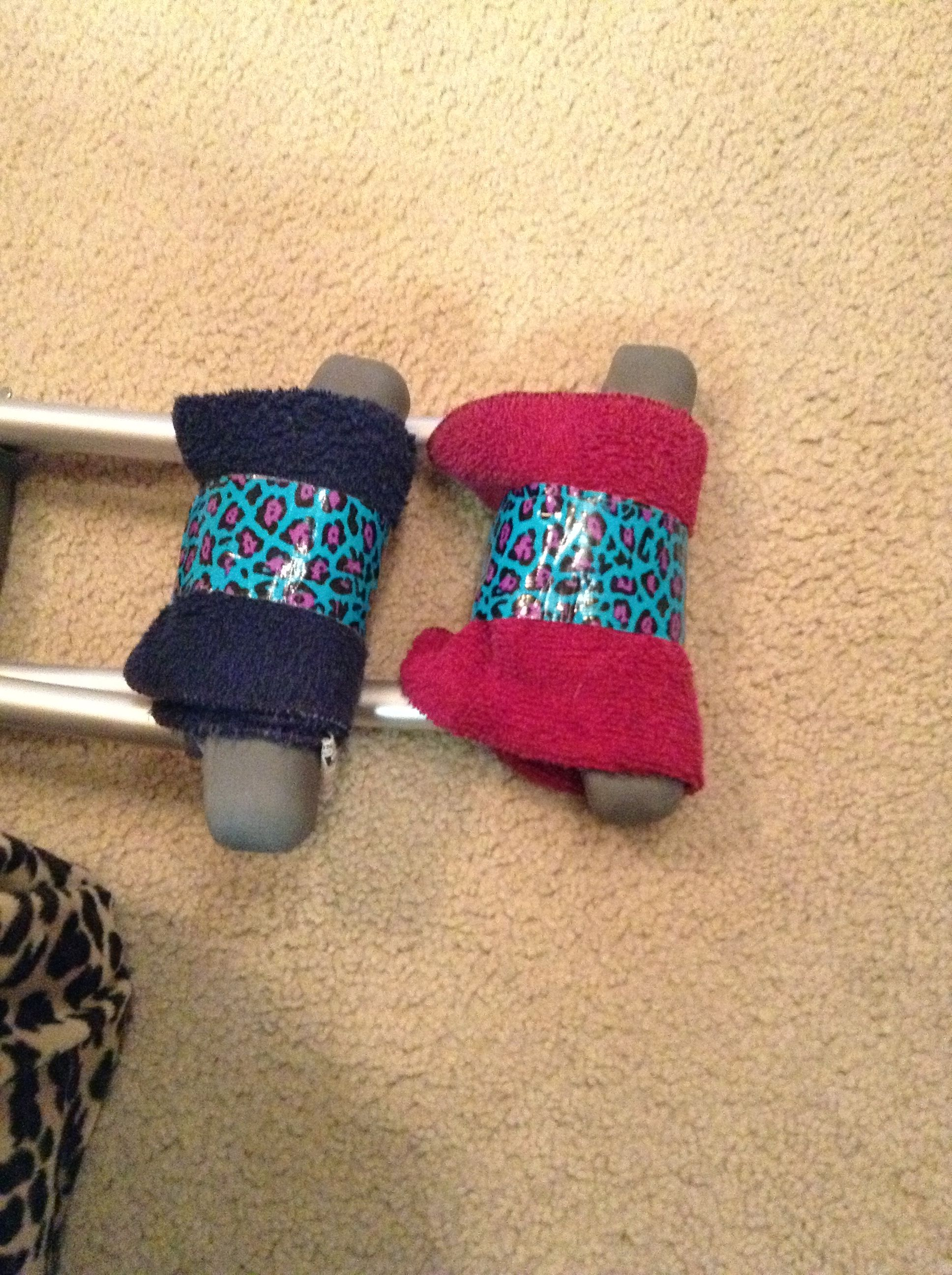 Pads For Crutches 2 Washcloths Ductape Crutches Diy Crutches Padding Diy Crutch Pad