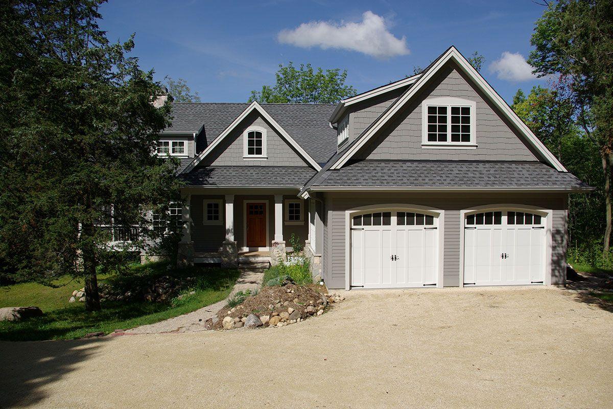 Trackett Residence Highland Builders House Exterior House Styles Garage Design