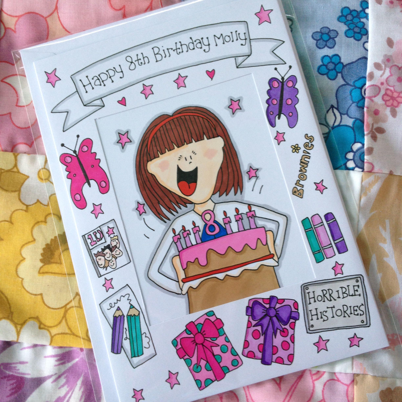 8th Birthday Card Happy Birthday Cards Happy 8th Birthday Cards