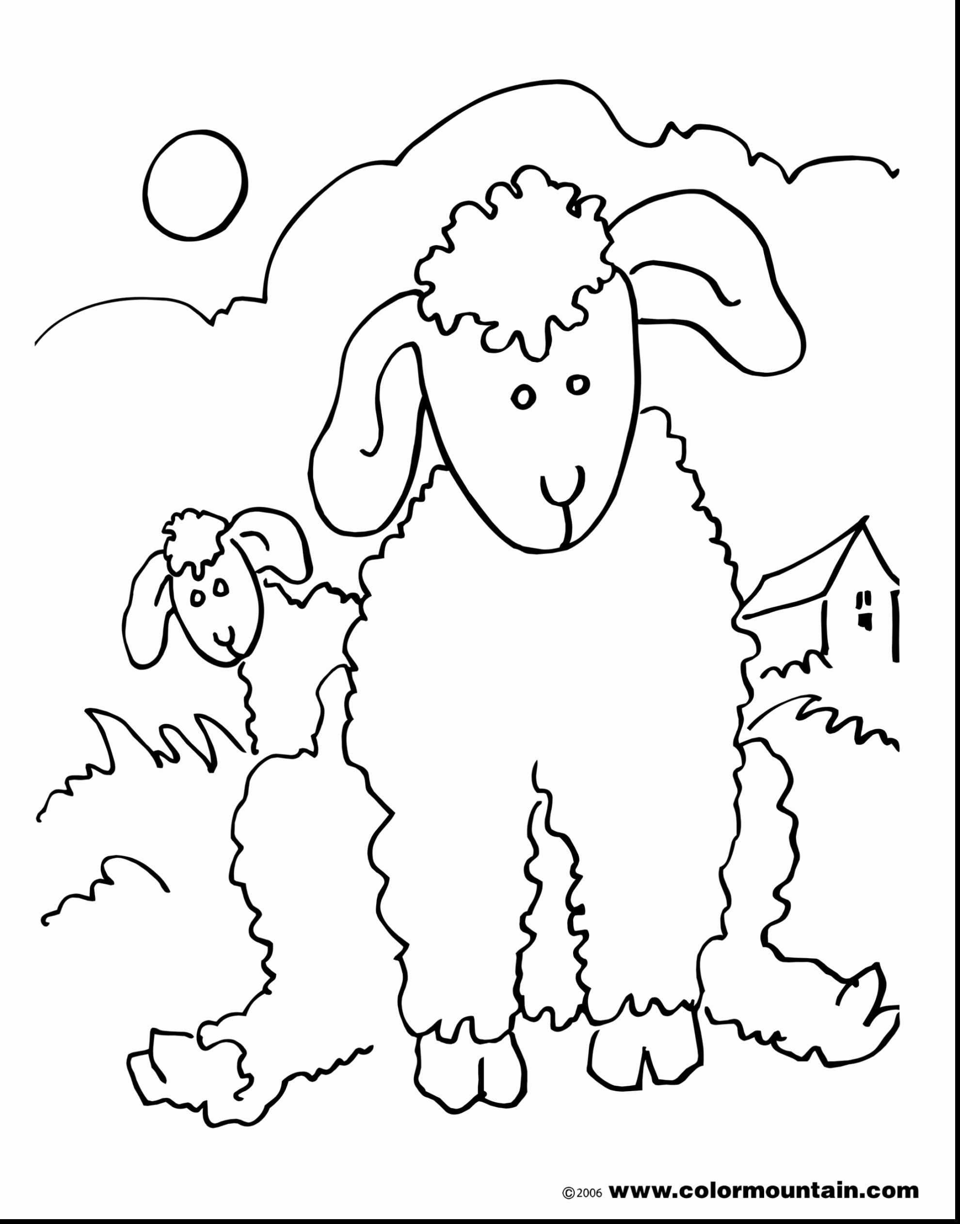 Coloring Picture Of A Sheep Unique Lion And Lamb Coloring Pages