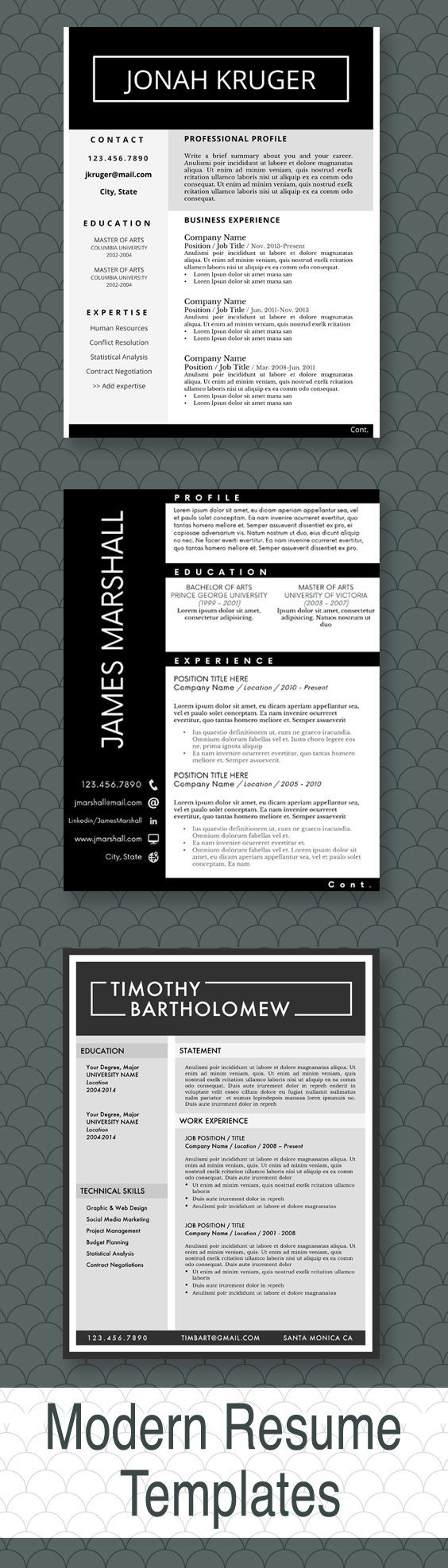 Love these resumes totally eyecatching Masculine Resume