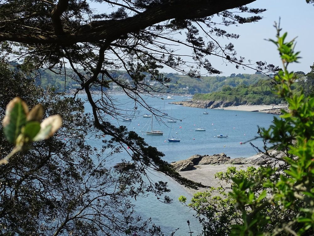 The Helford River near Mawnan Smith in Cornwall, taken on a sunny day in May 2014