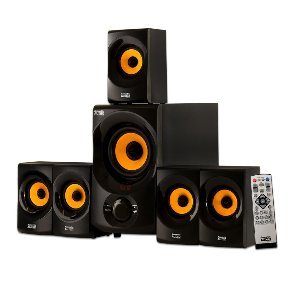 Bluetooth home theater speaker system with fm tuner also in rh pinterest
