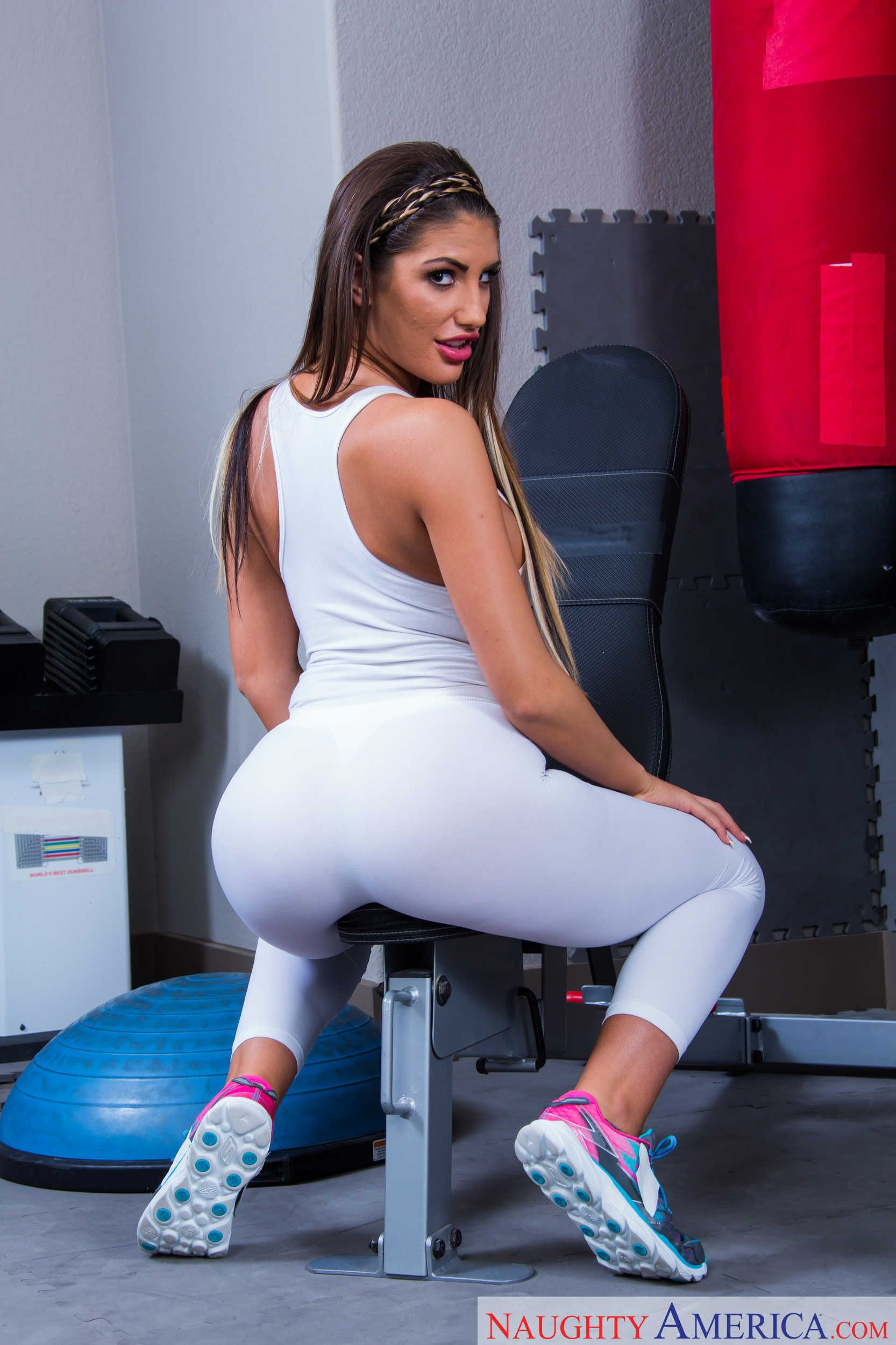 August ames facialized on knees