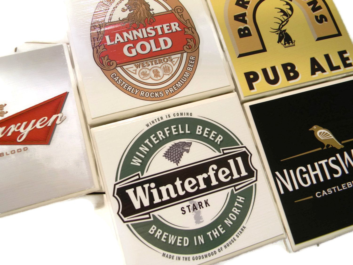 game of thrones beer coasters winterfell game of thrones beer coasters winterfell targaryen lannister baratheon and nightswatch variety pack targaryen
