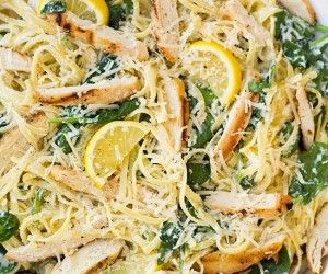 Lemon Ricotta Parmesan Spinach Pasta with Grilled Chicken | Cooking Class