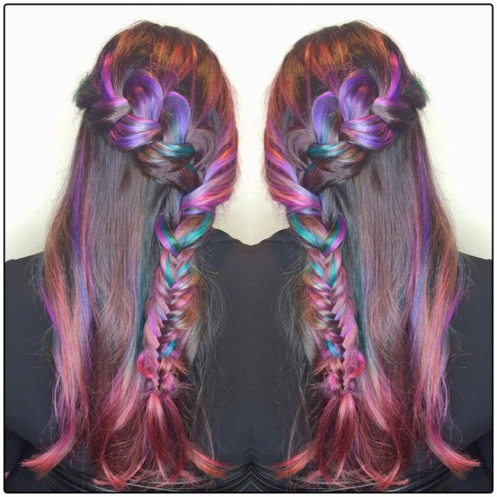 Long brown hair with jewel hues high fashuun pinterest colors