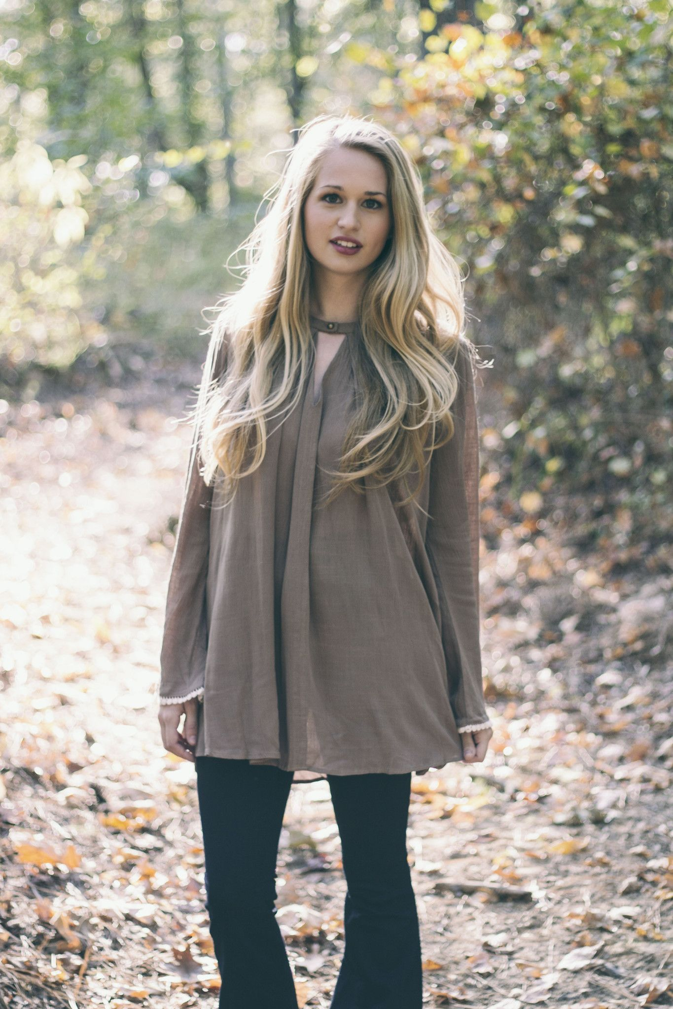 Fall Outfit Inspiration Trapese Tunics and Flare Jeans from Style ...