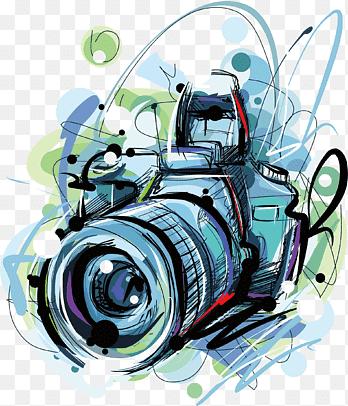 Camara Ilustracion De Camara Reflex Digital Multicolor Pintura De Acuarela Azul Png Camara De Fotos Dibujo Dibujos Camaras Fotograficas Dibujo De Camara