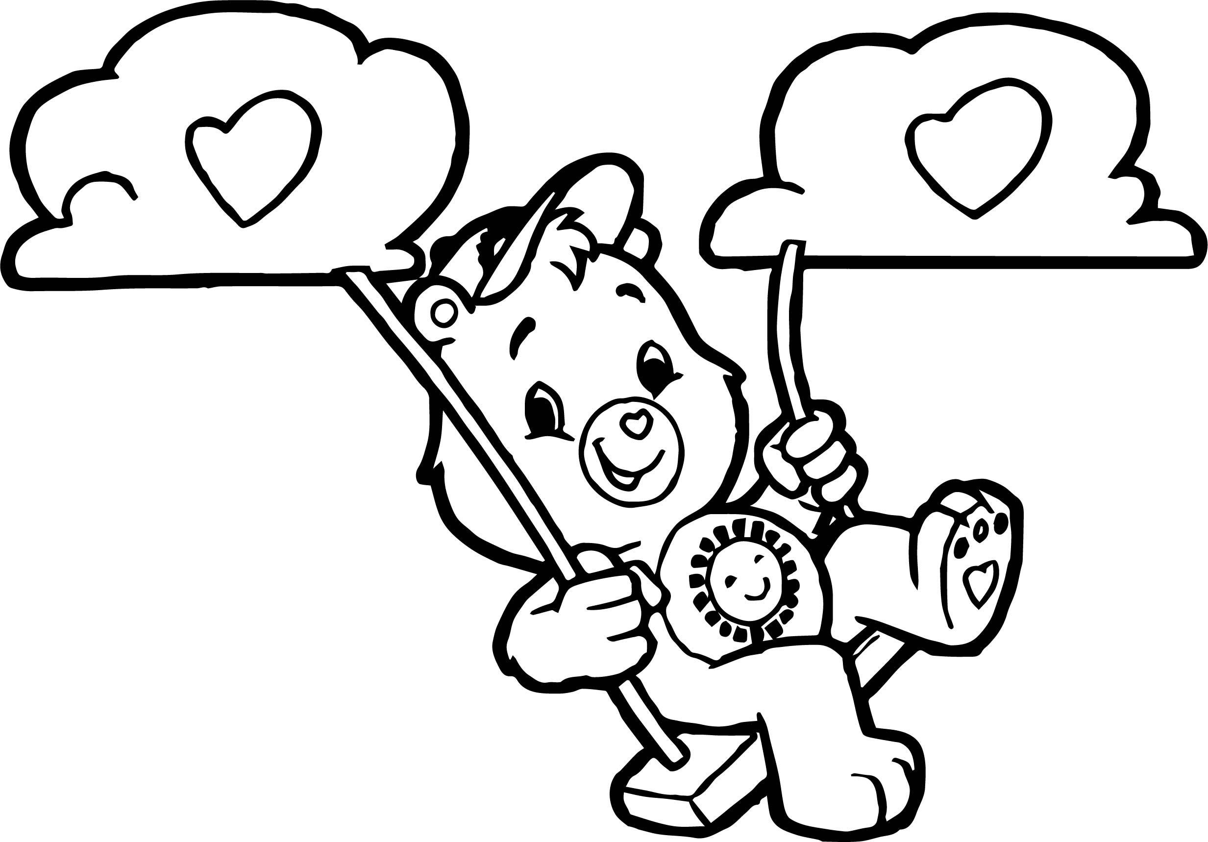 Awesome Care Bears Swing Cloud Adventures In Care A Lot Coloring