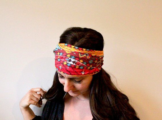 Yoga Headband- Funky AZTEC -Headband for Women- Fitness headband - boho headband- workout Headband - #yogaheadband Yoga Headband- Funky AZTEC -Headband for Women- Fitness headband - orkout Headband - Running headban #yogaheadband