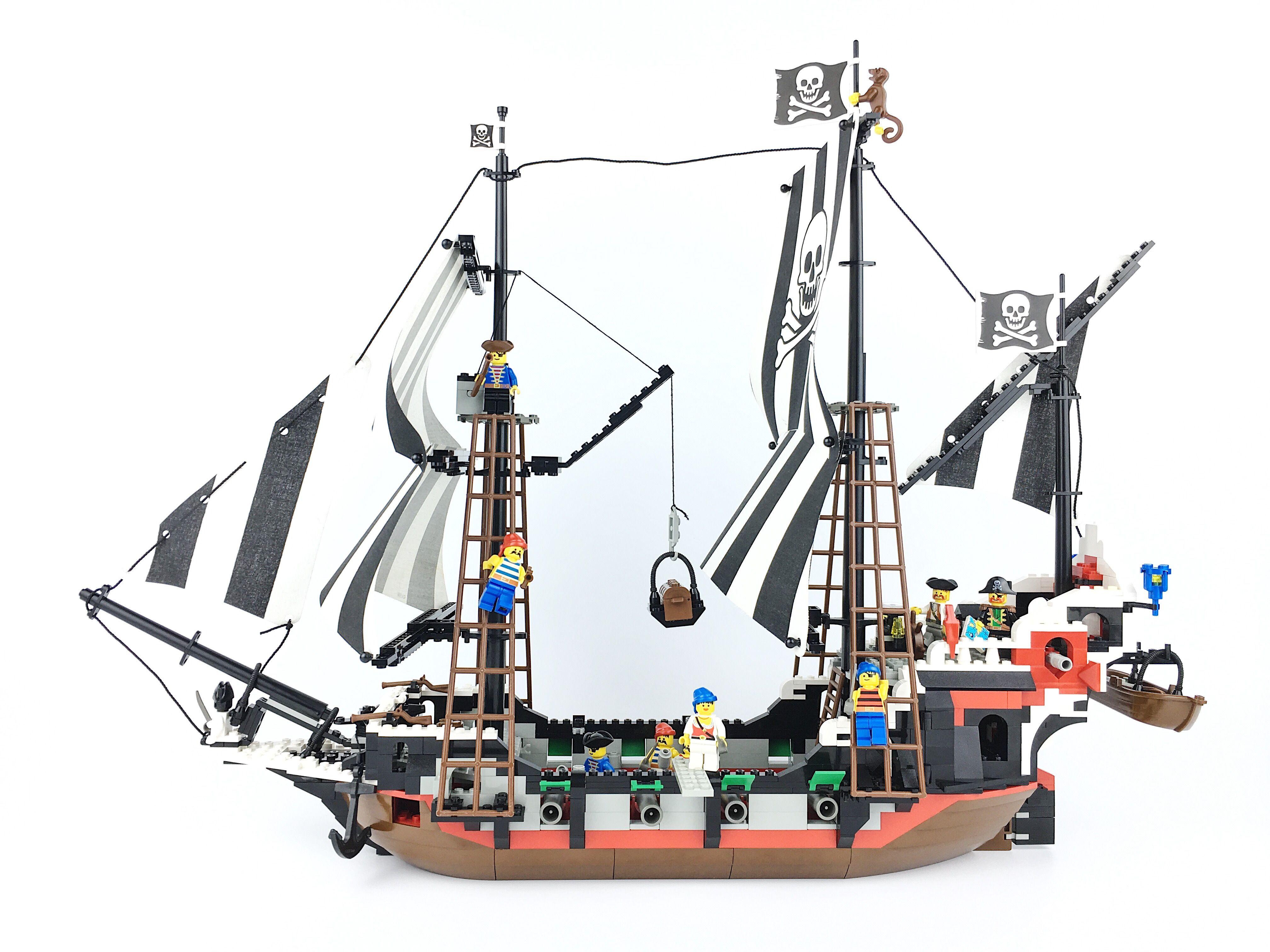 Laser Cut! Custom Replacement Cloth Sails Lego 6286 Skull/'s Eye Schooner