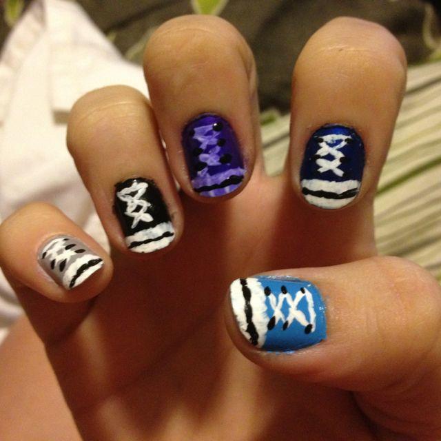 Nail Art Couture Converse Nail Art: Converse Nails, Nails, Nail Art