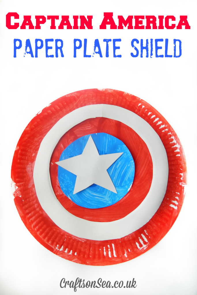 Captain America Paper Plate Shield Crafts On Sea Blog