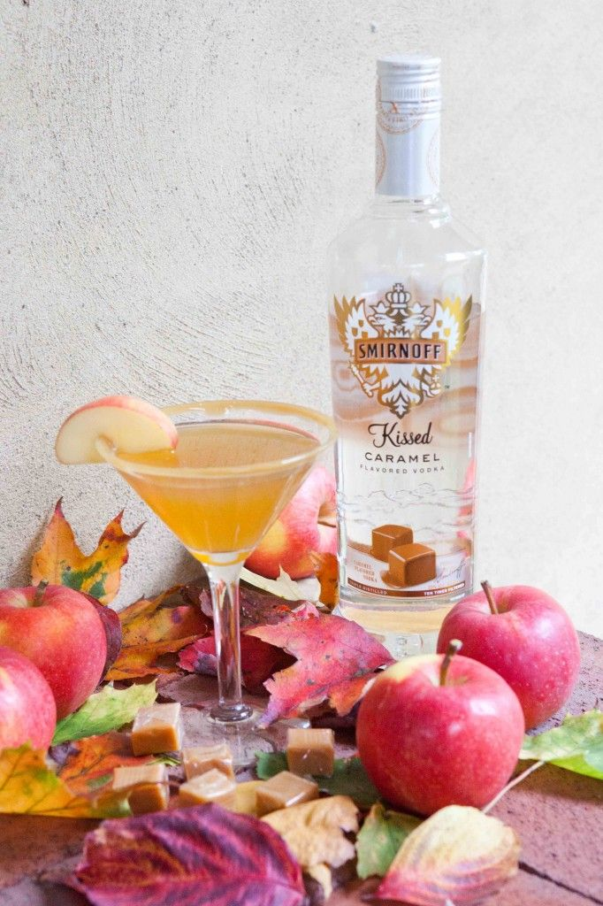 Vodka And Caramel And Apples Martini