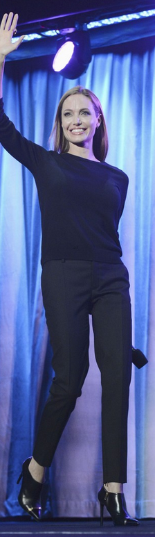 Fantastic basic pant. There are so many pics of AJ in these pants with a variety of tops & accessories (shoes, the length allows for use with flats & heels), they can be used for just about anywhere!
